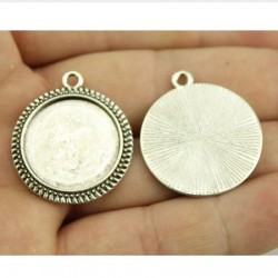 4 Supports cabochons rond 20mm WY-SI-004