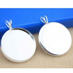 5 Supports cabochons rond 20mm WY-SI-006