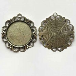 5 Supports cabochons rond 30mm T83